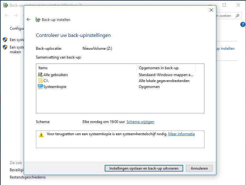 Windows 10 systeemkopie maken